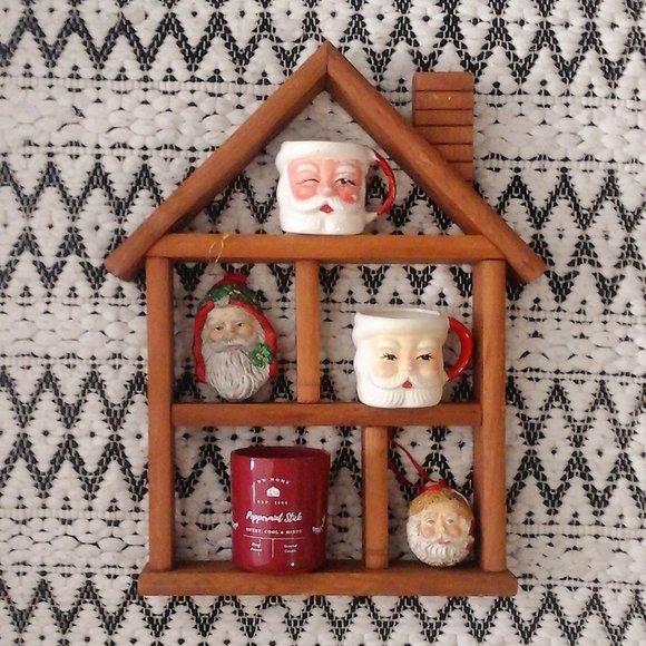 Wooden Farm House Shelf